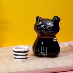 검은 고양이 독구리 술병 주기세트
