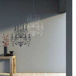 벽화스텐실 도안 샹들리에 1000600118