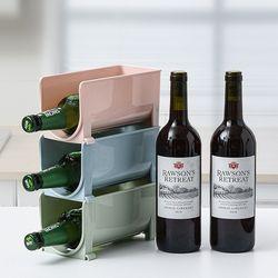 [무료배송] 냉장고 와인 음료수병 보관정리대 2개 (색상선택)