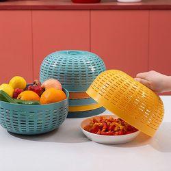 [무료배송] 다용도 야채바구니 주방덮개 2개 (색상선택)