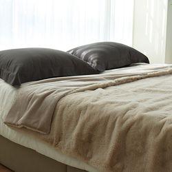 소트프 인조퍼 Fur 블랭킷 beige - 145x180