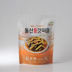 팜스락 여수 돌산 삼채 갓피클 1kg 100% 국산재료