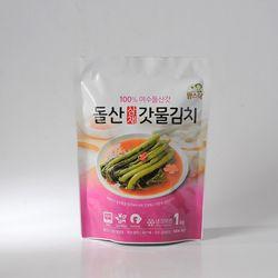 팜스락 여수 돌산 삼채 갓물김치 1kg 100% 국산재료