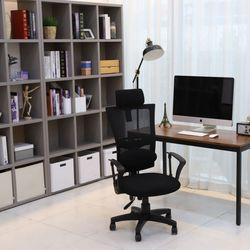 오피스 요추형 블랙 의자