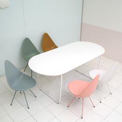 위드 타원형 테이블 1800