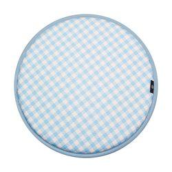 세잔느 논슬립 원형방석 01 블루체크 37cmx37cm (6color)