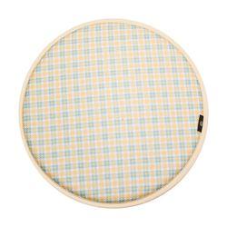 세잔느 논슬립 원형방석 02 옐로우 체크 37cmx37cm (6color)