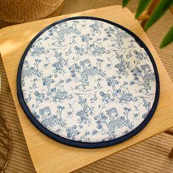 세잔느 논슬립 원형방석 06 트왈 블루 37cmx37cm (6color)