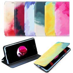 아이폰 13 pro max 미니 수채화 플립 커버 슬림케이스
