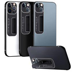 아이폰 13 pro max 메탈 매트핏 범퍼 거치대 케이스