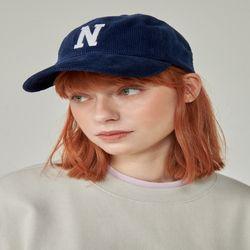 N LOGO CORDUROY CAP (NAVY)