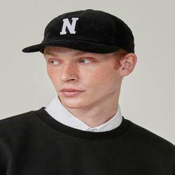 N LOGO CORDUROY CAP (BLACK)