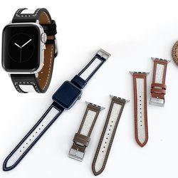 애플 6 5 4 3 se 세대 시계줄 가죽스트랩 38 40 42 44