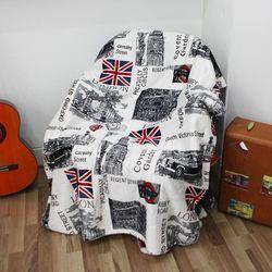 루리아 런던뉴욕 플래그 담요 130 x 160