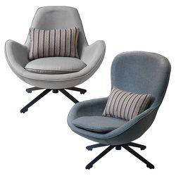 루나 1인용 패브릭 라운드 안락 암체어 소파 의자