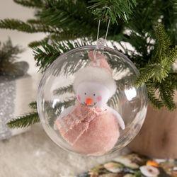 양모트윈핑크눈사람벌룬볼 120mmR 크리스마스 TRBALC