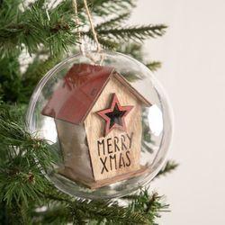 우드레드별하우스벌룬볼 120mmR 크리스마스 TRBALC