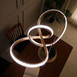 뫼비우스600 크리스탈 LED 식탁등 펜던트조명 40W
