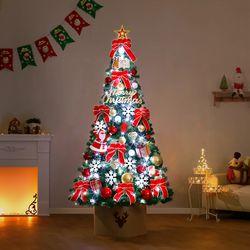 210cm 웰컴 산타 완제 트리(전구포함) 크리스마스트리