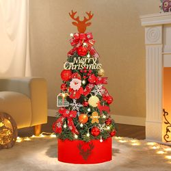 90cm 크리스마스의 기적 완제 트리(전구포함) 풀트리