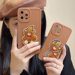 아이폰13 12 11 pro max xs 8 곰돌이 뽀글이 폰케이스