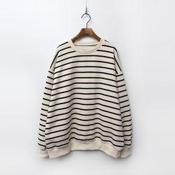 N Gimo Stripe Sweatshirt - 기모안감