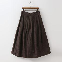 N Cotton Padding Full Long Skirt