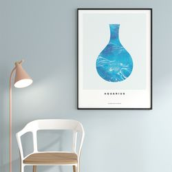 물병자리 A4 아트포스터 별자리 그림