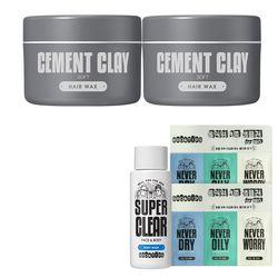 브로앤팁스 시멘트 클레이 헤어 왁스 (소프트) x2