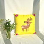 Ahjung cushion cover-flower deer