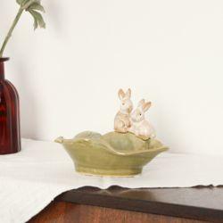 토끼 수반 인테리어 소품