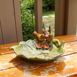 원앙새 나뭇잎 수반 카페 오픈 선물 인테리어 소품