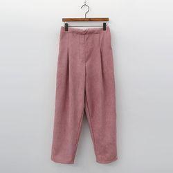 Gimo Corduroy Pintuck Pants - 기모안감