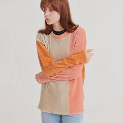 웜컬러 배색 립 티셔츠 - 우먼(ITEMKHFNQJC)