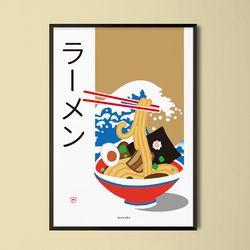 라멘6  M 유니크 인테리어 디자인 포스터 일식당 A1(특대형)