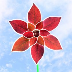 가을낙엽 바람개비 만들기