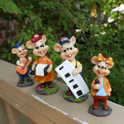 생쥐 악단 가족 4P 카페 개업 선물 장식소품