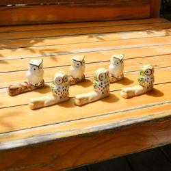 부엉이 젓가락 받침 (노랑/그린) 레스토랑 개업 선물