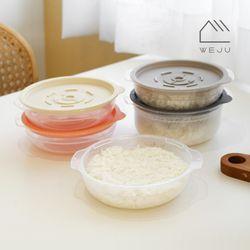 [위주]스팀 냉동밥 전자레인지 조리용기 450ml 6개+600ml 5개
