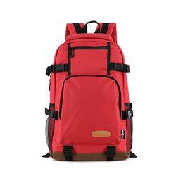여성 스포츠 등산가방 레드 여행용 큰 백팩 가방