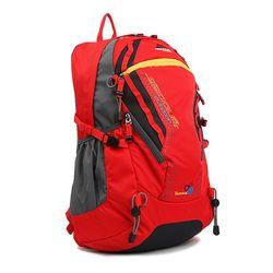 등산 캠핑 백팩킹 배낭 32L 아웃도어 여자 레드 가방