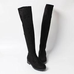 여자 겨울 다리길어보이는 세무 겨울패션 롱부츠