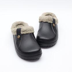 남자 겨울 발 따뜻한 보들보들 발편한 고무 털슬리퍼
