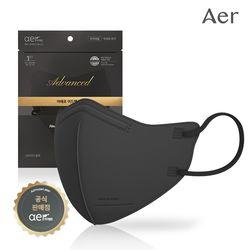 아에르 어드밴스드 KF94 보건용 마스크 블랙 10매