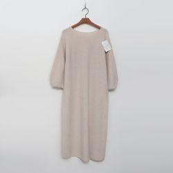 Whole Cashmere Wool Puff Long Dress