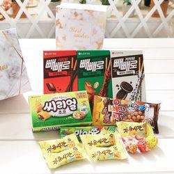 비앙코카라라 정사각박스(소) 막대과자 데이 수능 초콜릿 선물