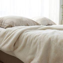 소프트 인조퍼 Fur 블랭킷 ivory - 145x180