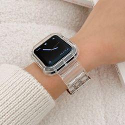 애플워치밴드 SE 7 6 5 4 3 2 1 투명 스트랩 wba-7143