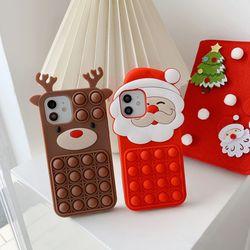 아이폰13 12 11 PRO MAX XS 8 루돌프 산타 팝잇케이스