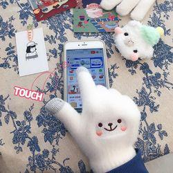 귀요미 스마트폰 터치 겨울 털장갑 (21T084)